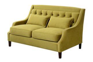 An Image of Zeno 2 seat Sofa Genova Olive