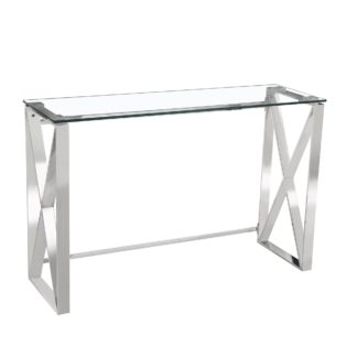An Image of 5A Fifth Avenue Madison Console Table Chrome