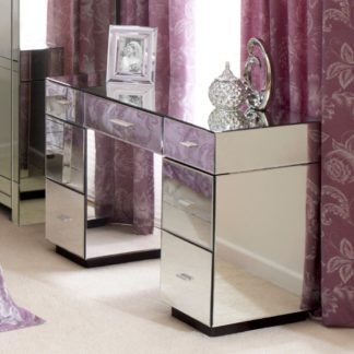 An Image of Venetian Mirrored Dressing Table Clear