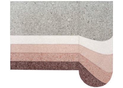An Image of Gandia Blasco Nuances Rug Rounded Burgundy 250 x 300cm
