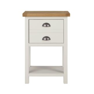 An Image of Compton Ivory Side Table Cream and Brown
