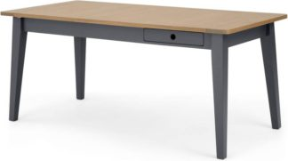 An Image of Ralph 6 - 8 seat Extending Dining table, Oak and Charcoal