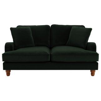 An Image of Beatrice Velvet 2 Seater Sofa Bottle (Green)