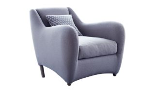 An Image of Scp Balzac Armchair Bute Melrose Marble