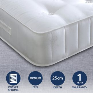 An Image of Bedmaster Signature Crystal 1400 Tufted Mattress White