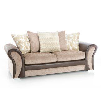 An Image of Scarlett 3 Seater Sofa Cream