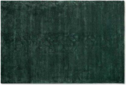 An Image of Merkoya Luxury Viscose Rug, Extra Large 200 x 300 cm, Peacock Green