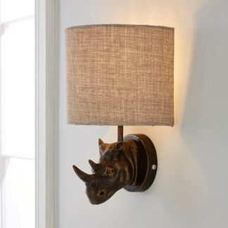 An Image of Rob the Rhino Walll Light Brown and Black
