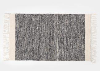 An Image of ferm LIVING Melange Mat Black 60 x 100cm