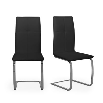 An Image of Juno Set of 2 Dining Chairs Black