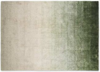 An Image of Tazim Graded Viscose Rug, Large 160 x 230cm, Moss Green