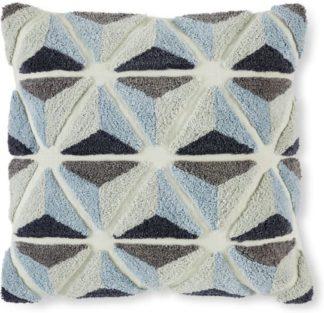 An Image of Nereus Tufted Cushion, 50 x 50cm, Blues