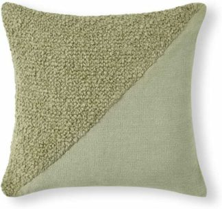 An Image of Opie Textured Cotton Cushion, 50 x 50cm, Green