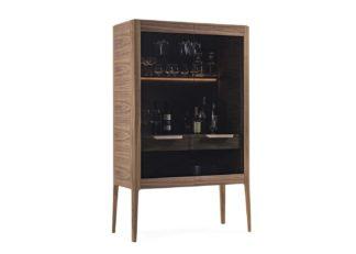 An Image of Porada Atlante Bar Unit Canaletta Walnut
