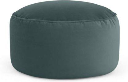An Image of Lux Floor Cushion, Marine Green Velvet