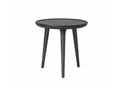 An Image of Mater Accent Side Table Black Stained Oak Small W45 x H42