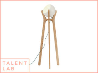 An Image of Sputnik Floor Lamp, White & Wood