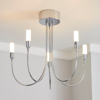 An Image of Affric 5 Light LED Tipped Chrome Chandelier Chrome