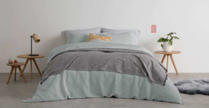 An Image of Waffle Cotton Duvet Cover + 2 Pillowcases, King, Soft Grey UK