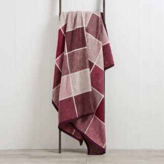 An Image of Check 150cm x 200cm Blanket Dark Purple