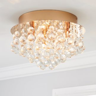 An Image of Torto Large Ceiling Fitting Rose Gold