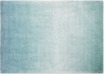 An Image of Tazim Graded Viscose Rug, Large 160 x 230cm, Teal Blue