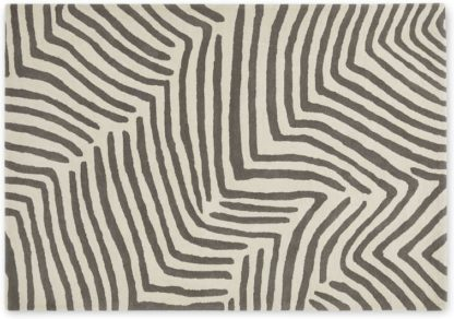 An Image of Larkin Handtufted Wool Rug, Large 160 x 230cm, Ecru & Warm Grey