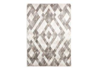 An Image of Linie Design Sirao Rug Diamond Hide Patchwork