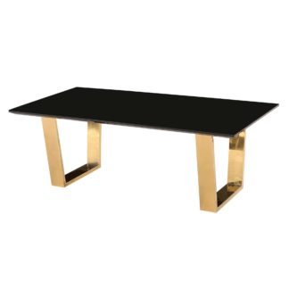 An Image of Antibes Black Coffee Table Black