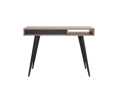 An Image of Case Celine Desk Walnut and Black