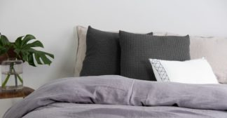 An Image of Grove 50 x 50cm 100% Cotton Cushion, Charcoal
