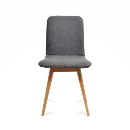 An Image of Gazzda Ena Chair Oak & Grey Facet Felt