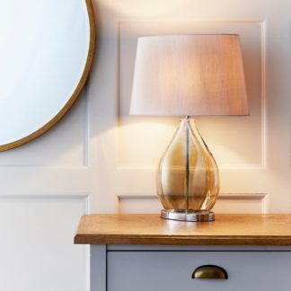 An Image of Endon Kew Smoked Table Lamp Gold