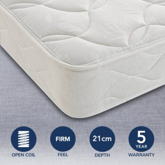 An Image of Silentnight Miracoil Classic Mattress White