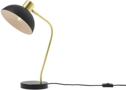 An Image of Cheston Table Lamp, Black & Brushed Brass
