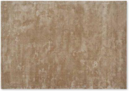 An Image of Merkoya Luxury Viscose Rug, Extra Large 200 x 300cm, Caramel