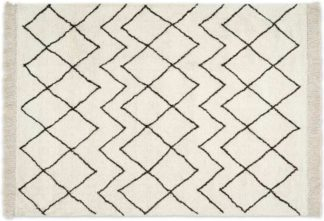 An Image of Masali Berber Style Wool Rug, Large 160 x 230cm, Off White