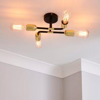An Image of Kacy Flush Ceiling Fitting Black