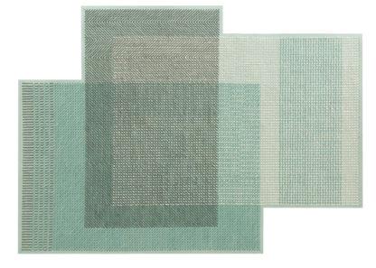 An Image of Gandia Blasco Canevas Geo Rug Green 170 x 240cm