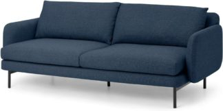 An Image of Miro 3 Seater Sofa, Midnight Weave