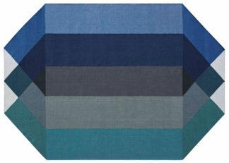 An Image of Gandia Blasco Diamond Kilim Rug Blue & Green 170 x 220cm