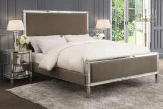 An Image of Antoinette Mirrored Bed - Taupe