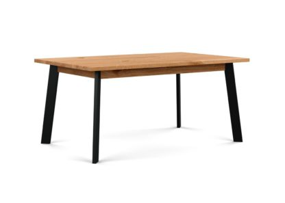 An Image of Heal's Nova Extending Dining Table Natural Oiled Oak L160 + 50cm x2