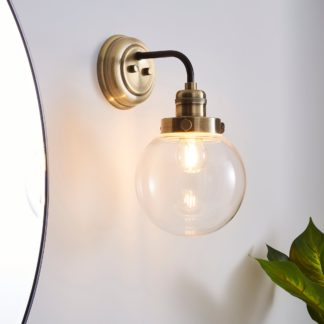 An Image of Broden Bathroom Wall Light Ant Brass Antique Brass