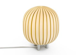 An Image of Established & Sons Filigrana T2 Cylinder Table Lamp White Tobacco
