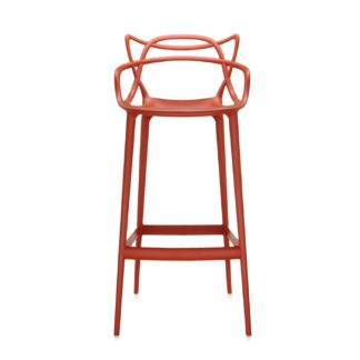 An Image of Kartell Masters Stool Large Orange Rusty