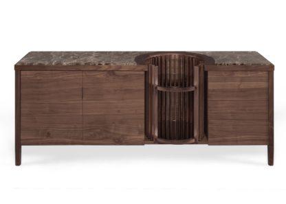 An Image of Wewood Carousel Sideboard Walnut & Emperador Marble