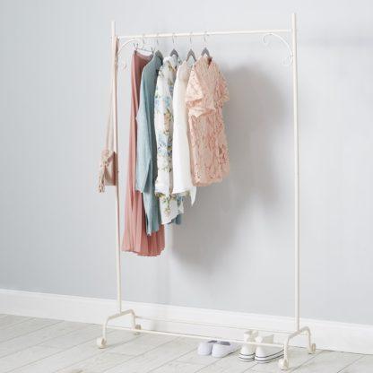 An Image of Cream Clothes Rail Cream