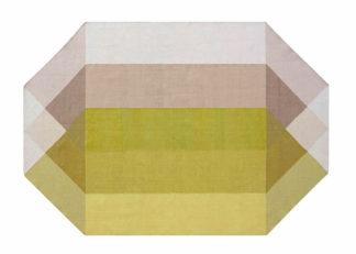 An Image of Gandia Blasco Diamond Kilim Rug Pink & Yellow 170 x 220cm