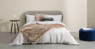 An Image of Adelphi Luxury Faux fur cushion 50x50cm, Pink